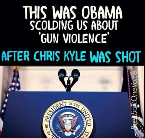 Obama after Chris Kyle shot