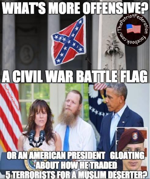 Bergdahl Obama confederate flag