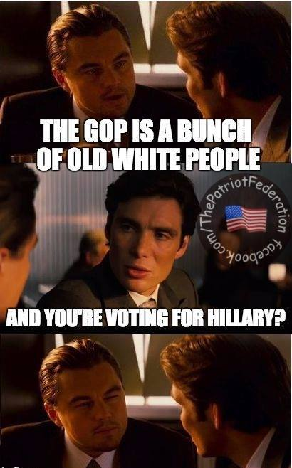 GOP old white people Hillary
