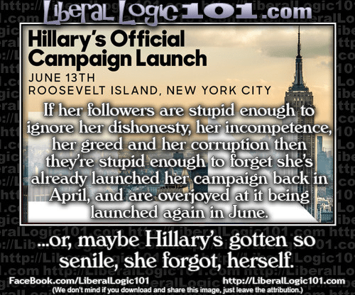 Hillary's repeat campaign launches