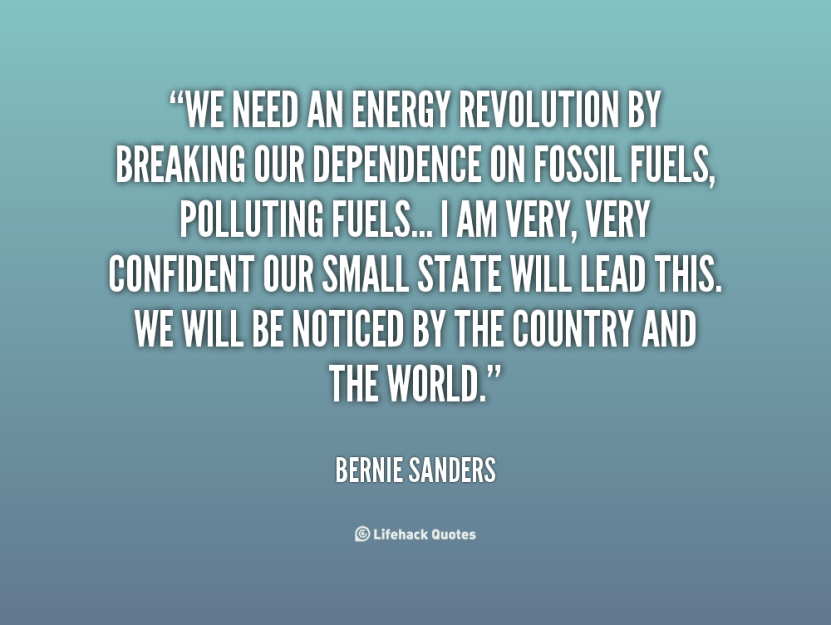 Bernie Sanders on Vermont's decision to abandon fossil fuels
