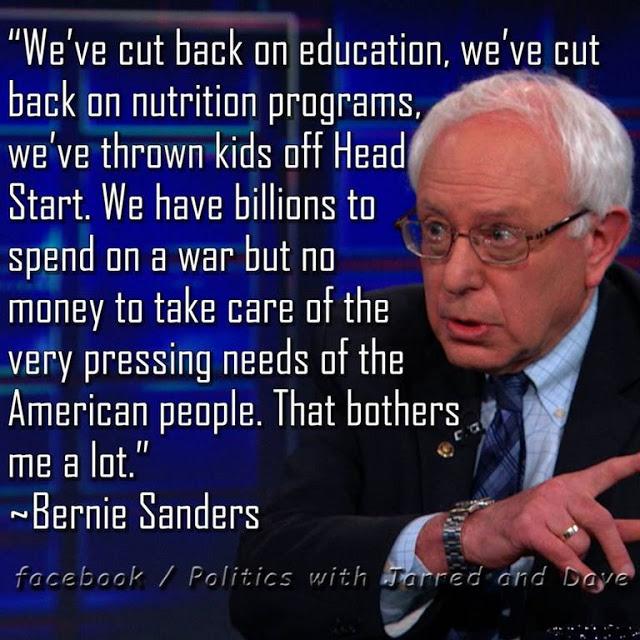 Bernie Sanders on social funding and war
