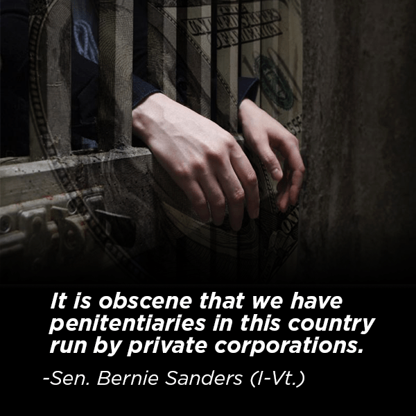 Bernie on private prisons