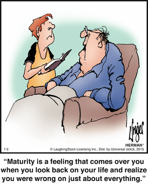 Maturity and being wrong