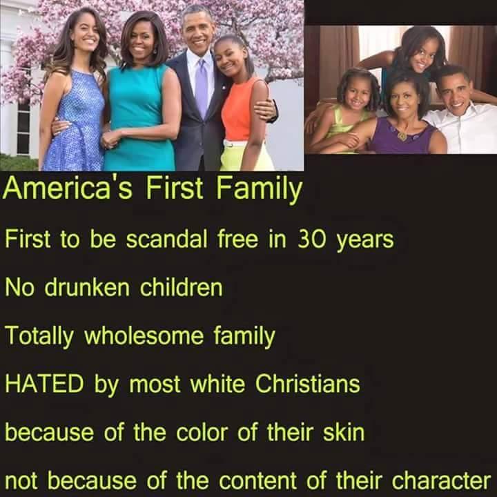 Obamas are scandal free
