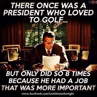 Reagan and golf