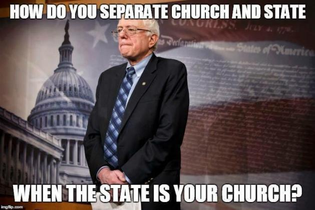 Separate church and state when state is your church