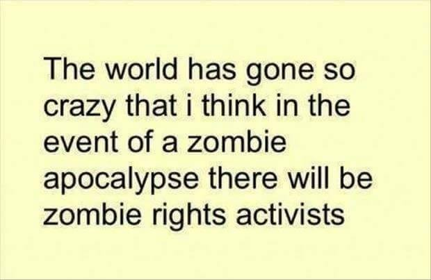 Zombie rights activists