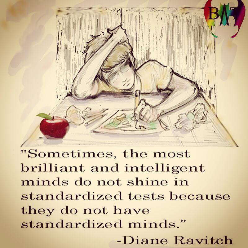 Great minds not standardized