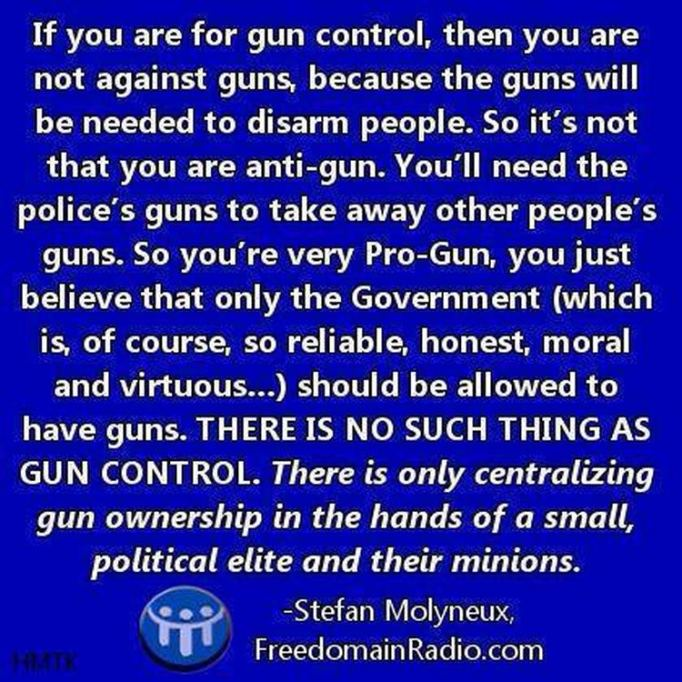 Gun control is really government control