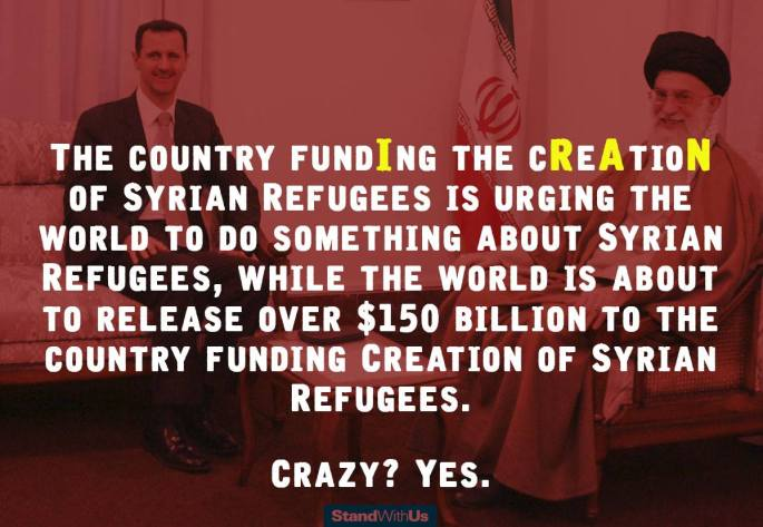 Iran takes our money and creates refugee crisis