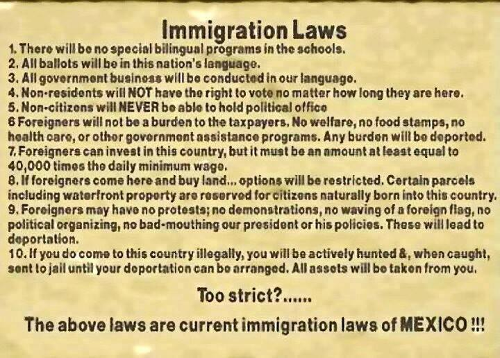 Mexican immigration laws