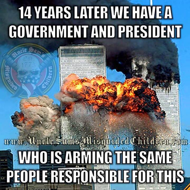Obama arms those responsible for 911