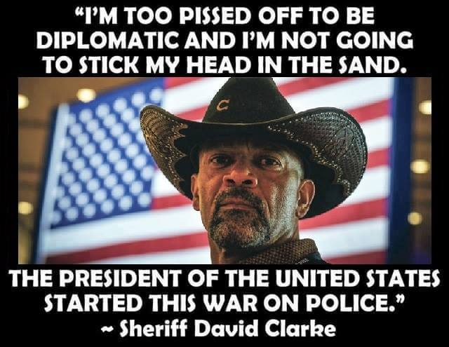Sheriff Clarke on President Obama's war on police