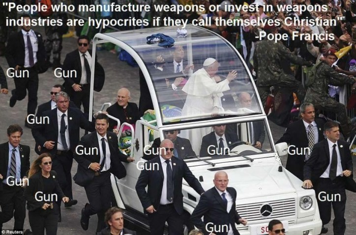 The Pope's guns