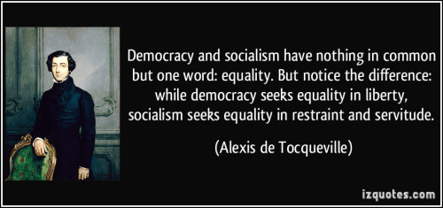 de Tocqueville on democracy and socialism