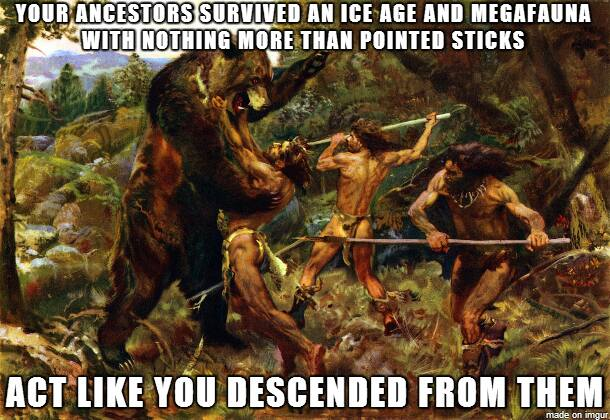 Ancestors survived post ice age with sticks