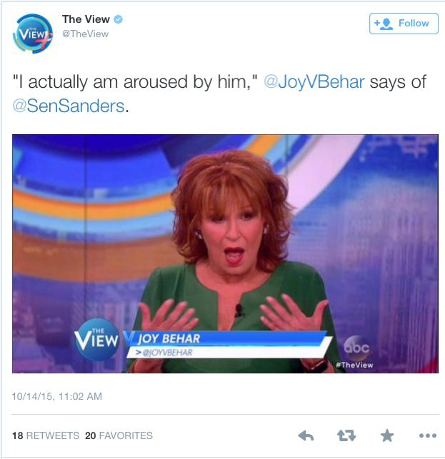 Behar aroused by Sanders