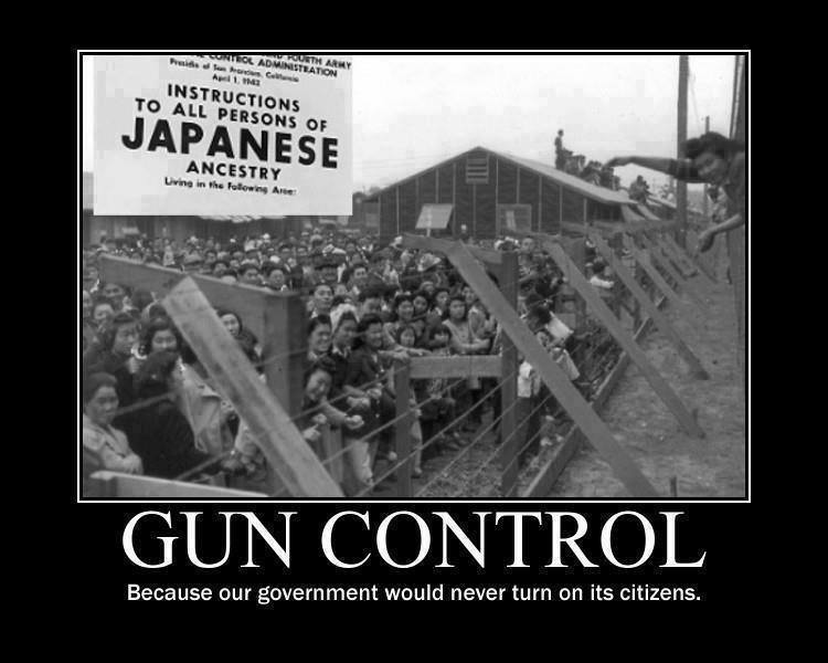 Gun control Japanese internment in US