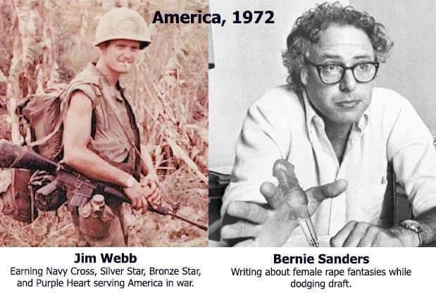 Jim Webb v Bernie Sanders