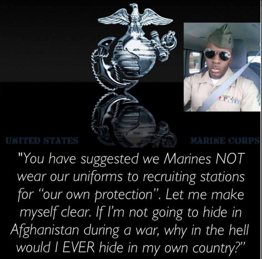 Marine will not hide in his own country