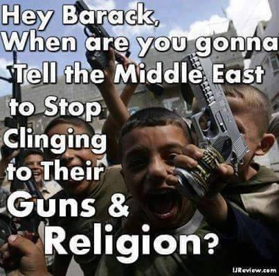 Middle East guns and religion