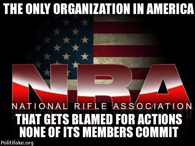 NRA blamed for things its members don't do