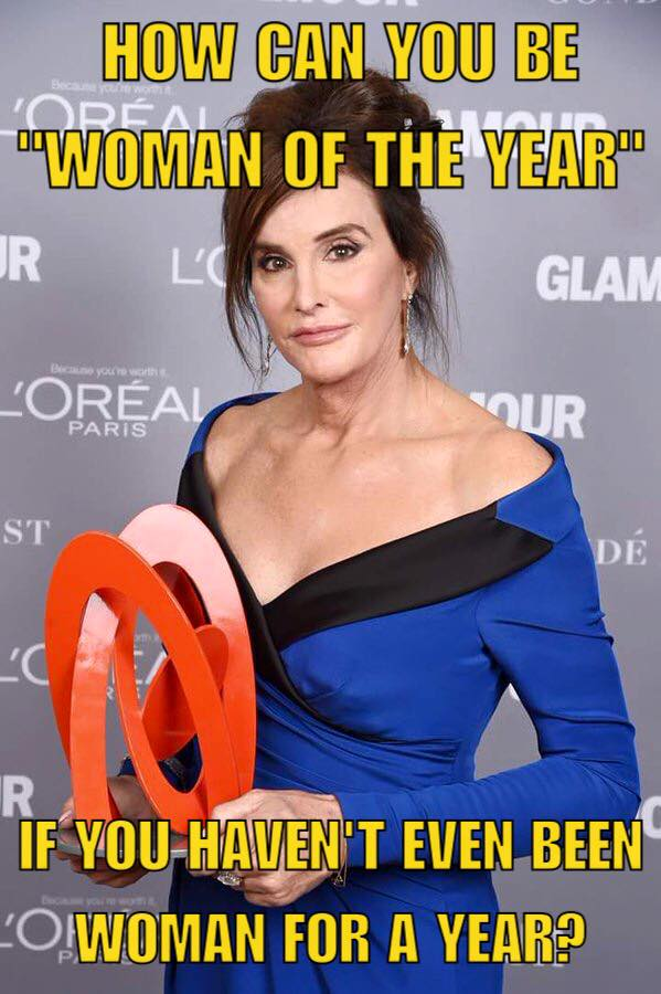 Caitlyn as woman of the year