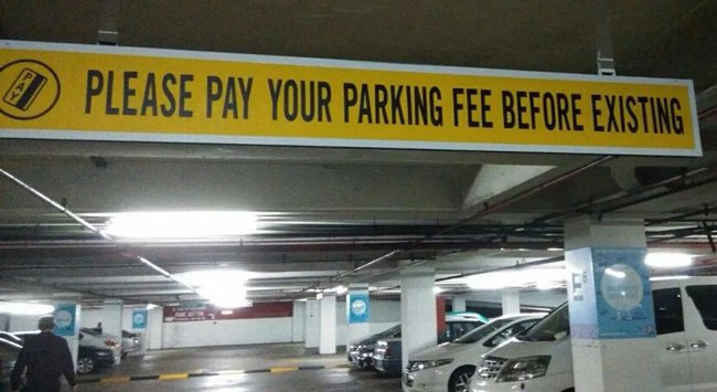Existential parking fee