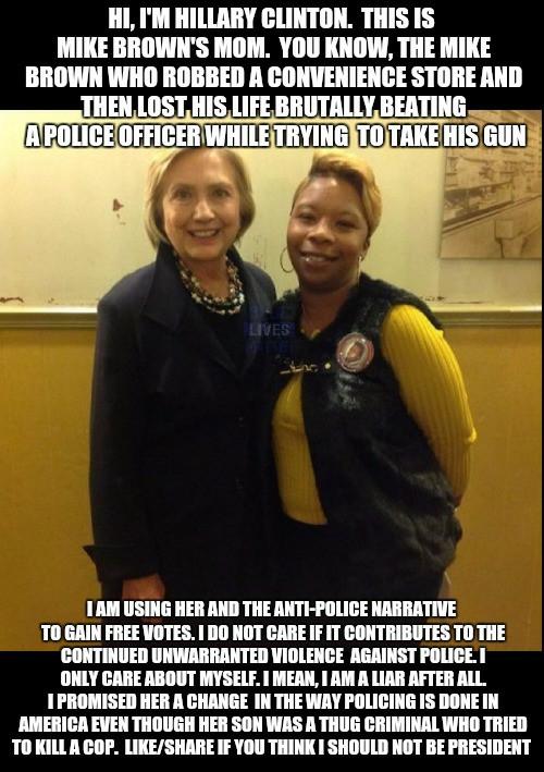Hillary Clinton exploits Ferguson