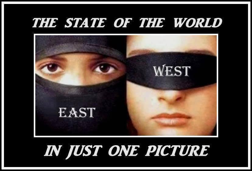 Islam burqa West blind eyes