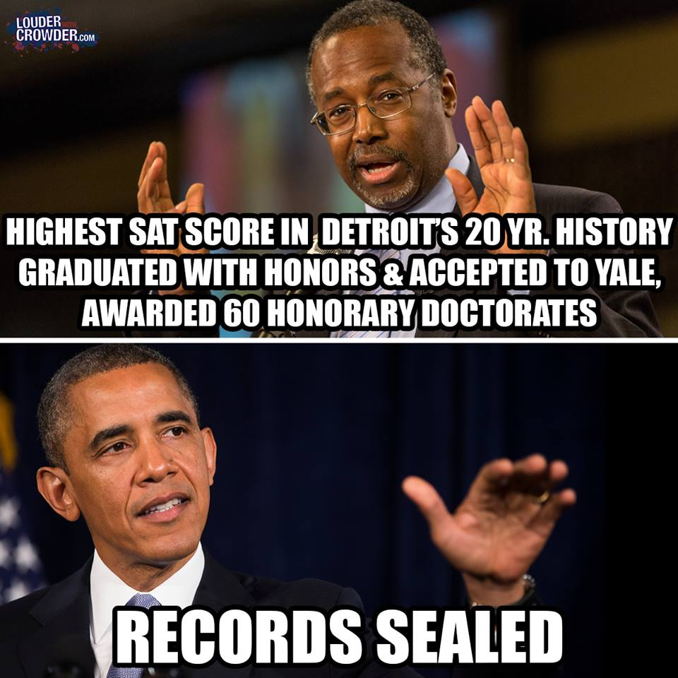 Obama and Carson academic records