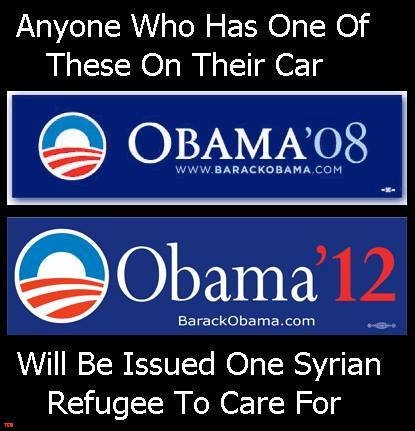 Obama supporters and Syrian refugees