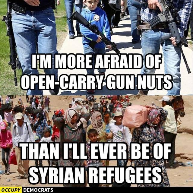 Open carry gun fear