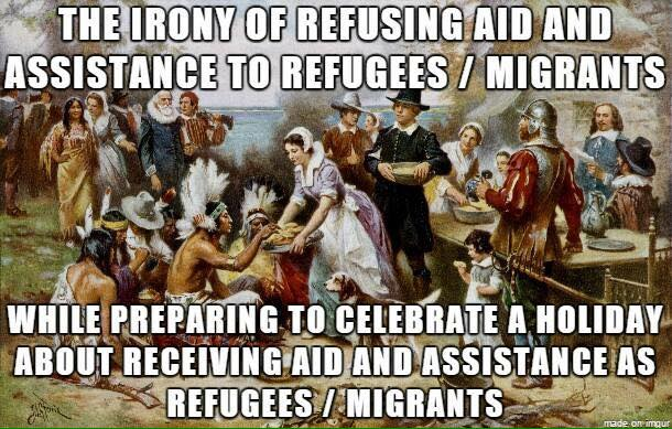 Pilgrims should be supportive of immigration