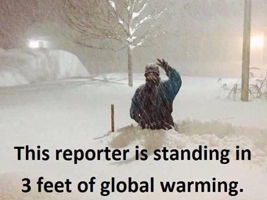 3 feet of global warming snow