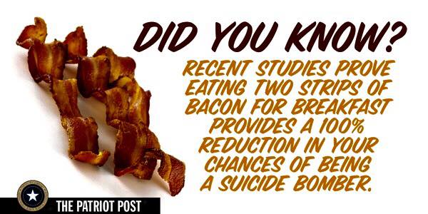 Bacon and suicide bombing