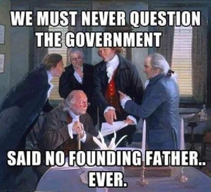 Founding fathers questioned government
