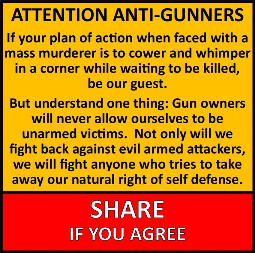 Gun owners fight terrorists