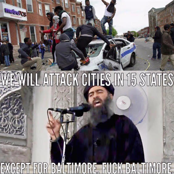 ISIS attacks everywhere but Baltimore