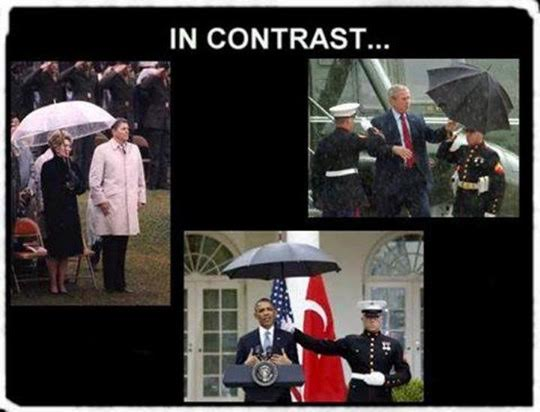 Presidents Marines umbrellas