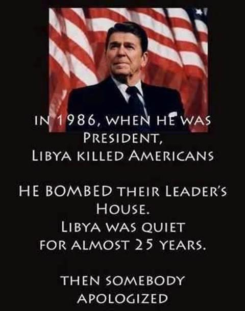 Reagan bombed Libya when they killed Americans