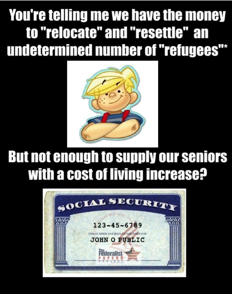 Refugees versus retirees