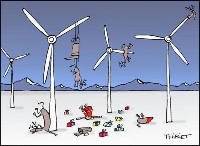 Wind generators and Santa tangle