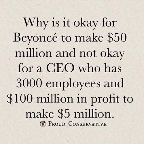 Beyonce Useful CEOs should make money