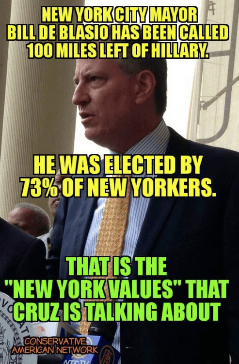 Bill de Blasio is New York values