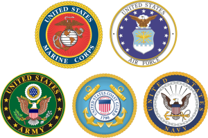 Five branches of the American military
