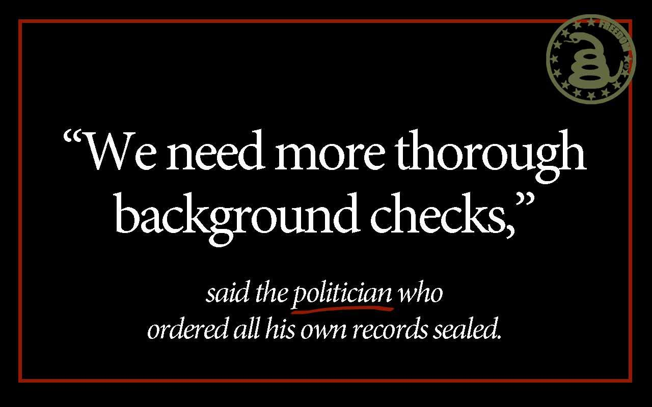 Obama hypocrite on background checks