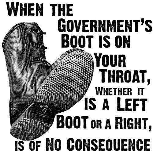whether government boot is left or right is irrelevant