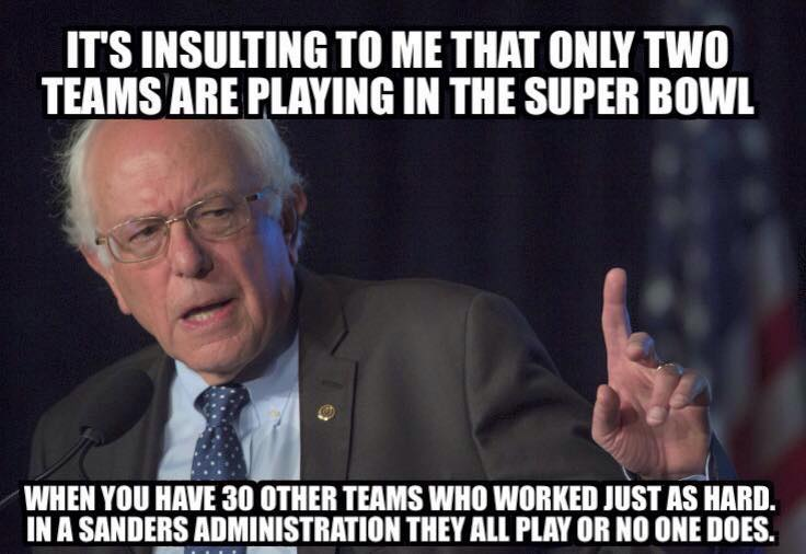 Bernie on the Super Bowl